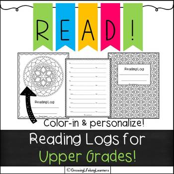 Book Logs for UPPER GRADES!