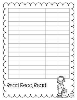 Reading Logs for the YEAR!