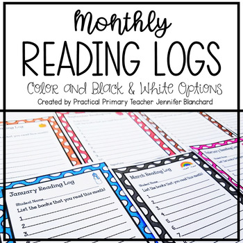 Reading Logs for the Year