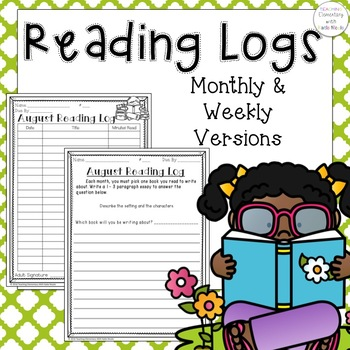 Reading Logs with Reading Response Questions