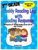Reading Logs with Reading Response - READING STREET (2013) - UNIT 3 - 3RD GRADE