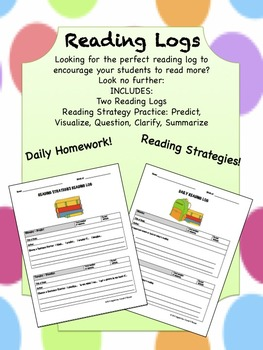 Reading Logs with Reading Strategies!