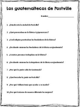 "Reading ""Los guatemaltecos de Postville"" (level 2 and up)"
