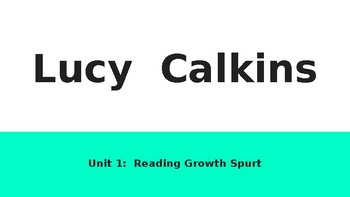 Reading Lucy Calkins Unit 1 Bends 1&2
