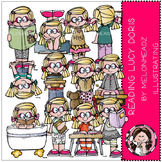 Reading clip art - Lucy Doris - by Melonheadz