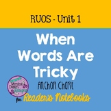 Reading, Reader's Notebook RUOS Unit 1, When Words Are Tri