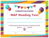 Reading MAP Growth Goal Certificate