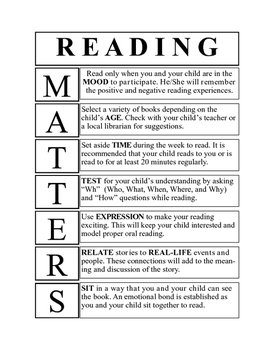 Reading MATTERS to Parents