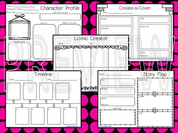 Reading Graphic Organizers: 30 Fun, printable activities for ANY book!