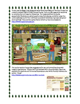 Reading: Magic Tree House Interactive Website