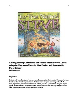 Reading-Making Connections and Science-Tree Resources Lesson