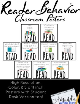 Early Finishers Reading Posters