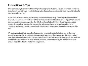 Reading Maps-A Geography/English Cross-Curricular Assignment