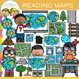 Reading Map Skills Clip Art