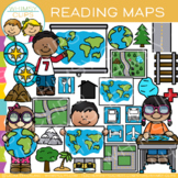 Reading Map Skills Clip Art {Whimsy Clips Map Clip Art}
