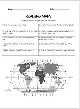 Reading Maps- Latitude/Longitude, Scale, and Directions