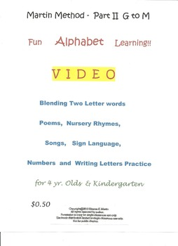 Reading - Martin Method PreK Play 13 Video
