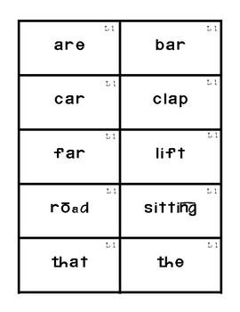 Reading Mastery 1: Flashcards Set 1- Lesson 1-20