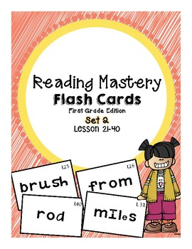 Reading Mastery 1: Flashcards Set 2- Lesson 21-40