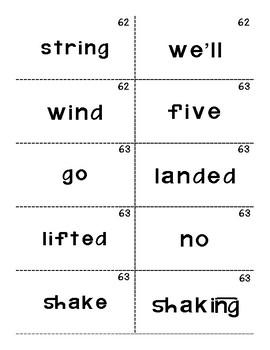 Reading Mastery 1: Flashcards Set 4- Lesson 61-80