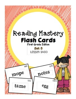 Reading Mastery 1: Flashcards Set 5- Lesson 81-100