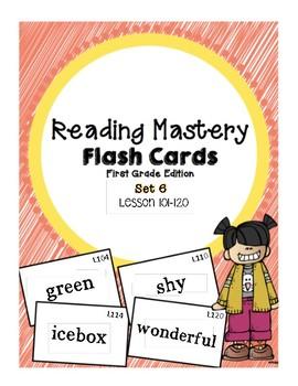 Reading Mastery 1: Flashcards Set 6- Lesson 101-120
