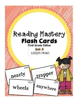 Reading Mastery 1: Flashcards Set 8- Lesson 141-160