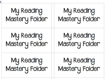Reading Mastery Group Rules, Labels, and Poster