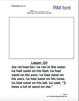 Reading Mastery K - Draw Picture for Reading Passages Lessons 110-115