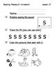Reading Mastery K Signature Homework Lessons 1-20
