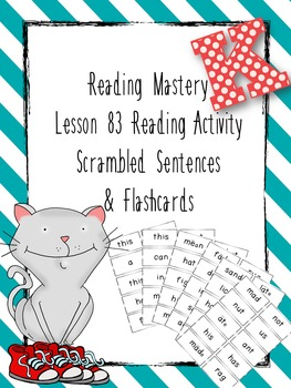 Reading Mastery K Lesson 87 Sentence Scramble Freebie