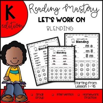 Reading Mastery K-Let's Work on Blending The COMPLETE Set