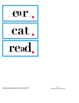 **UPDATED** Reading Mastery K flashcard words Lessons 1-160 Big & Small