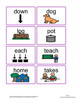 Reading Mastery K flashcard words Lessons 100-120