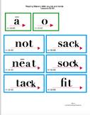 Reading Mastery K progress monitoring flashcards