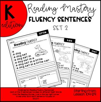 Reading mastery sentence teaching resources teachers pay teachers reading mastery reading fluency sentences l109 129 set 2 fandeluxe Images