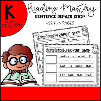 Reading Mastery Sentence Repair Shop