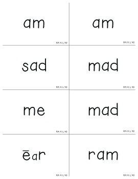 Reading Mastery Signature Kindergarten Flashcards