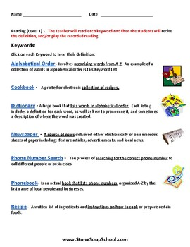 Reading Materials For Stated Purpose- LD Learning Disabilities - K -2 ESSA