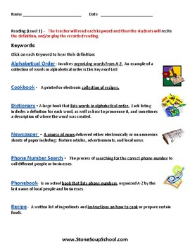 K - 2 Reading Materials For Stated Purpose - for Students with Autism