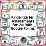 Reading & Math Assessments: Kindergarten & Early 1st Grade {Google Classroom™}