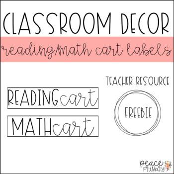 Reading + Math Cart Labels