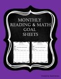 Reading & Math Goal Sheets