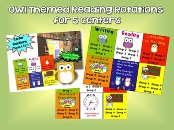 Reading & Math Owl Themed Bundle of Automated PowerPoints for centers