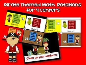 Reading & Math Pirate Themed Bundle of Automated PowerPoints for centers