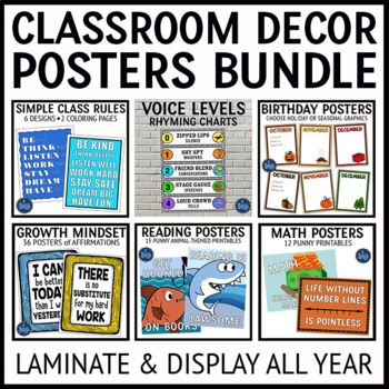 Reading Language and Math Posters Bundle