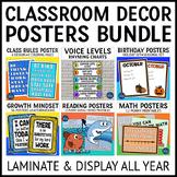Reading Language and Math Posters Bundle