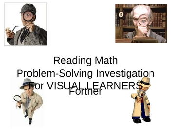 Reading Math Problem Solving for Visual Learners