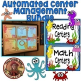 Reading & Math Sea Life Ocean Animals Bundle - Automated PowerPoints for centers