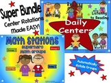 Superhero Themed Reading & Math Bundle of Automated PowerP